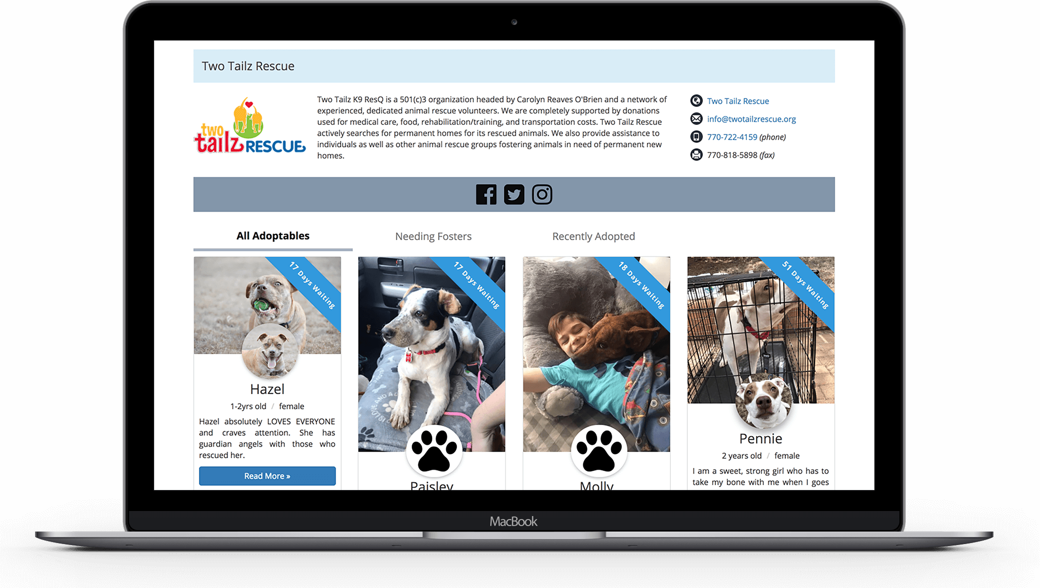 pawsumes - Rescuer Home Page